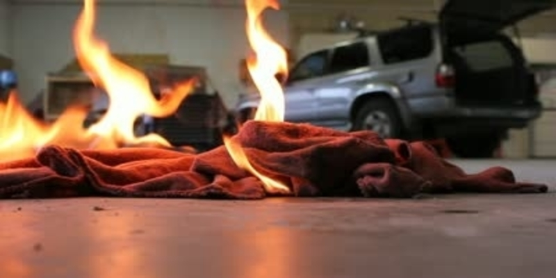 Oil soaked rags spontaneously combusting
